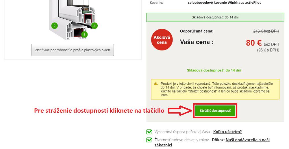 """3769d53ccee87 V detaile produktu, o ktorý máte záujem, kliknete na tlačidlo """"Strážiť  dostupnosť"""". okienku vyplníte Vaše meno a priezvisko, email a počet  rezervovaných ..."""