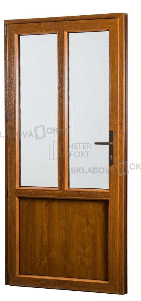 SKLADOVE-OKNA.sk - Vedľajšie vchodové dvere PREMIUM, ľavé - 980 x 2080 mm, barva biela
