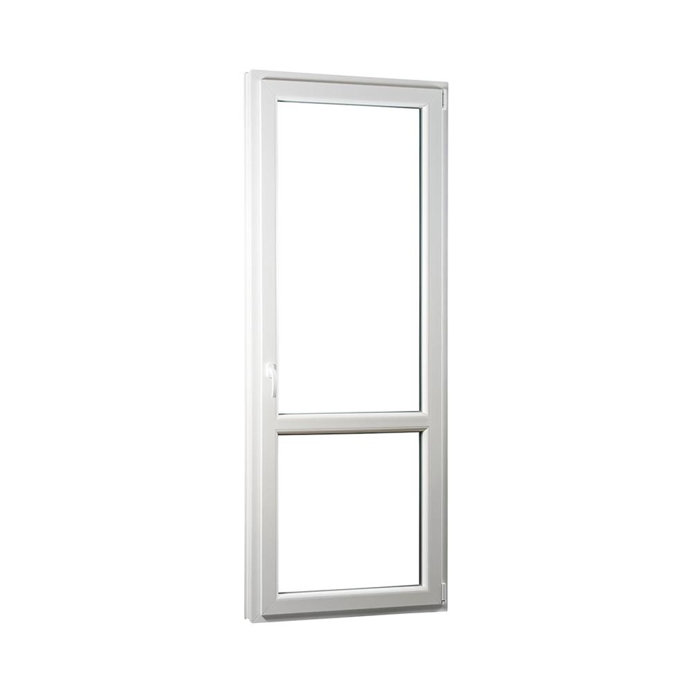 SKLADOVE-OKNA.sk - Jednokrídlové plastové balkónové dvere PREMIUM, pravé - 850 x 2330 mm, barva biela/zlatý dub