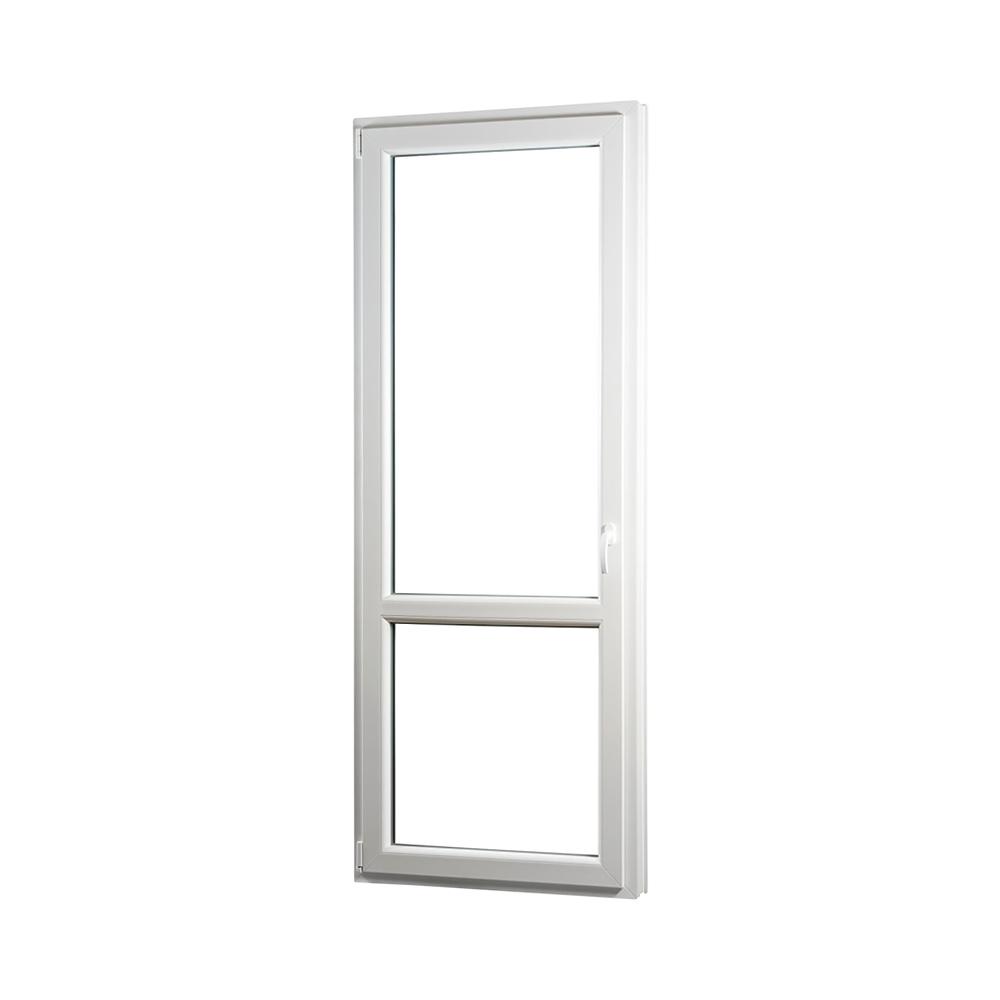 SKLADOVE-OKNA.sk - Jednokrídlové plastové balkónové dvere PREMIUM, ľavé - 850 x 2330 mm, barva biela/zlatý dub