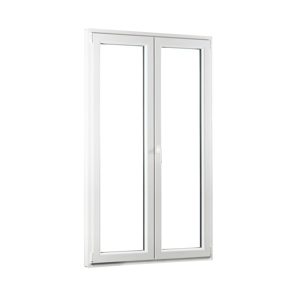 SKLADOVE-OKNA.sk - Dvojkrídlové plastové balkónové dvere PREMIUM - 1200 x 2080 mm, barva biela