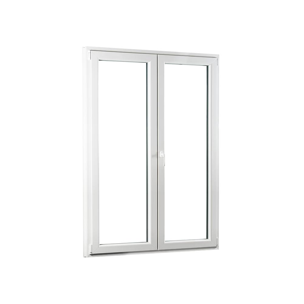 SKLADOVE-OKNA.sk - Dvojkrídlové plastové balkónové dvere PREMIUM - 1300 x 2080 mm, barva biela