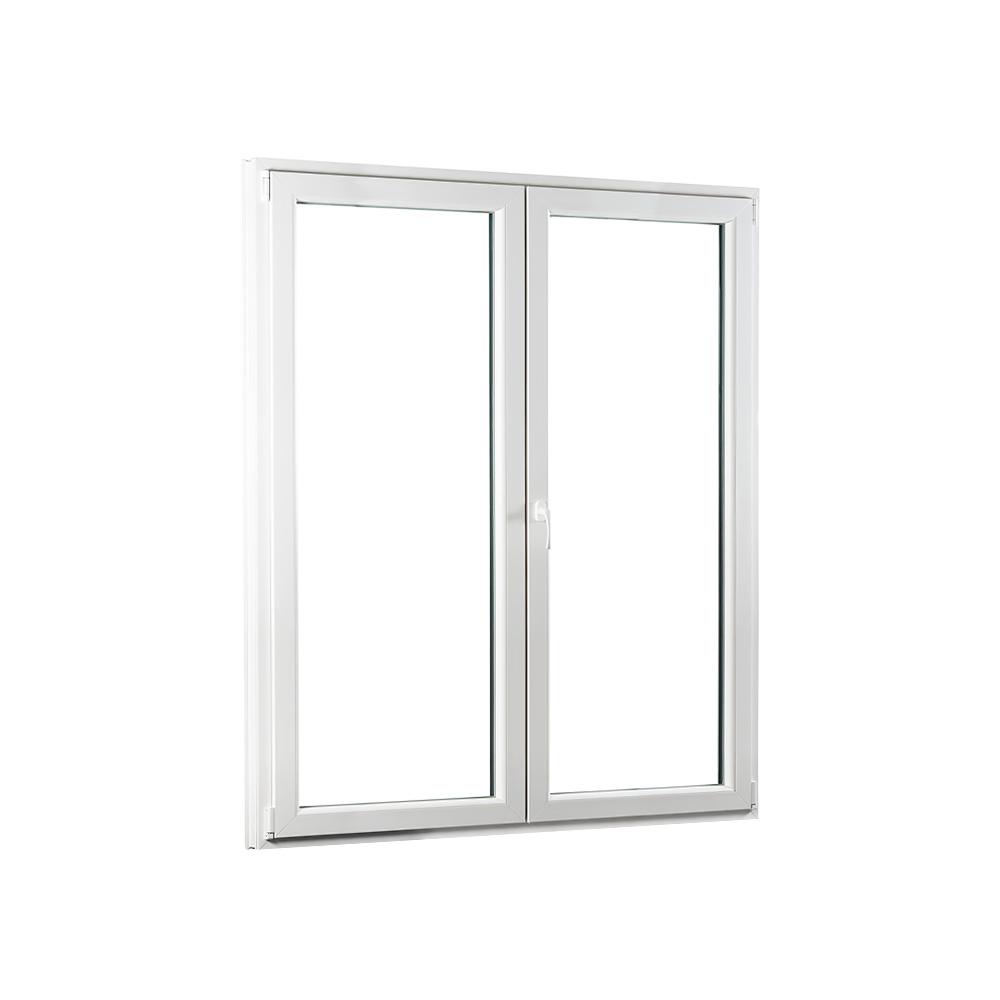 SKLADOVE-OKNA.sk - Dvojkrídlové plastové balkónové dvere PREMIUM - 1500 x 2080 mm, barva biela