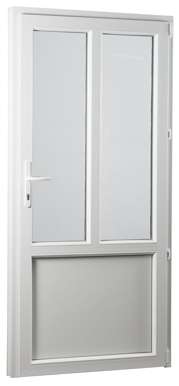 SKLADOVE-OKNA.sk - Vedľajšie vchodové dvere PREMIUM, pravé - 980 x 2080 mm, barva biela