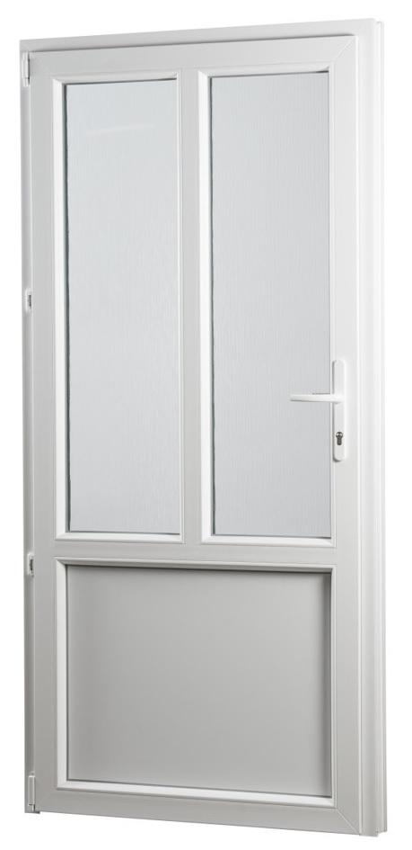 SKLADOVE-OKNA.sk - Vedľajšie vchodové dvere PREMIUM, ľavé - 880 x 2080 mm, barva biela/zlatý dub