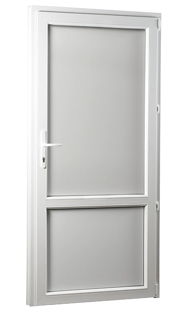 SKLADOVE-OKNA.sk - Vedľajšie vchodové dvere PREMIUM, plné, pravé - 980 x 2080 mm, barva biela
