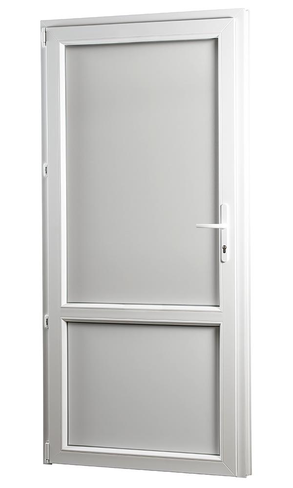 SKLADOVE-OKNA.sk - Vedľajšie vchodové dvere PREMIUM, plné, ľavé - 980 x 2080 mm, barva biela