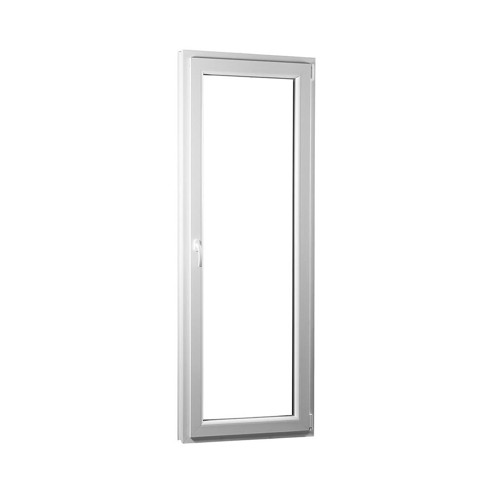SKLADOVE-OKNA.sk - Jednokrídlové plastové balkónové dvere PREMIUM, pravé - 700 x 2080 mm, barva biela