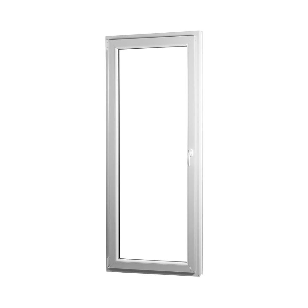 SKLADOVE-OKNA.sk - Jednokrídlové plastové balkónové dvere PREMIUM, ľavé - 700 x 2080 mm, barva biela