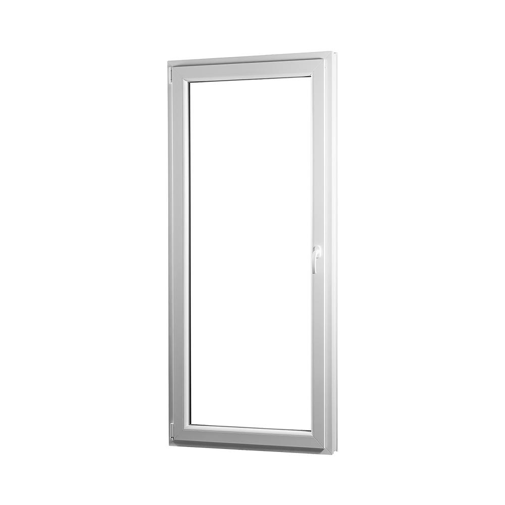 SKLADOVE-OKNA.sk - Jednokrídlové plastové balkónové dvere PREMIUM, ľavé - 800 x 2080 mm, barva biela