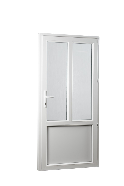 SKLADOVE-OKNA.sk - Vedľajšie vchodové dvere PREMIUM, pravé - 880 x 2080 mm, barva biela/zlatý dub