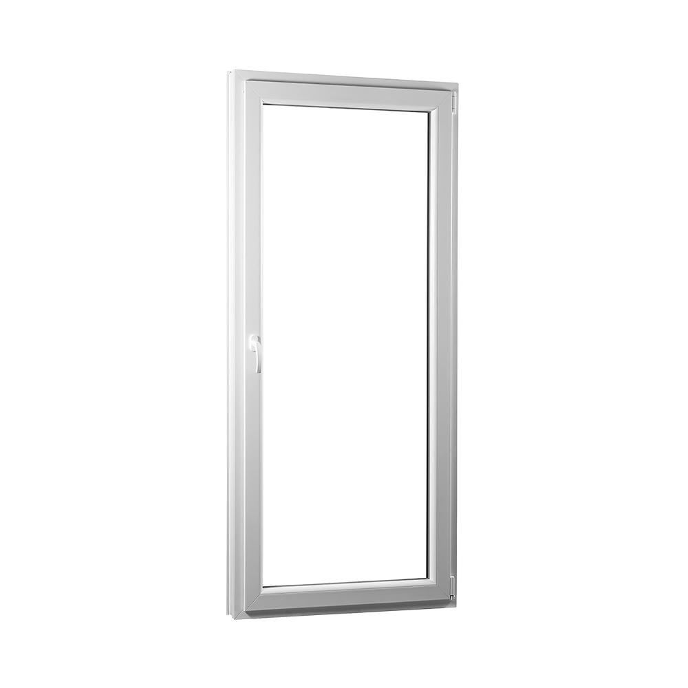 SKLADOVE-OKNA.sk - Jednokrídlové plastové balkónové dvere PREMIUM, pravé - 850 x 2080 mm, barva biela