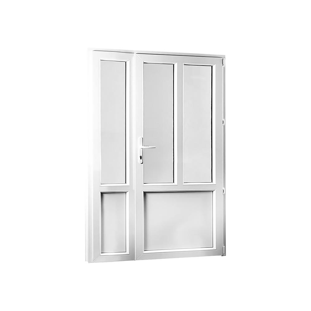 SKLADOVE-OKNA.sk - Vedľajšie vchodové dvere dvojkrídlové, pravé, PREMIUM - 1280 x 2080 mm, barva biela/zlatý dub