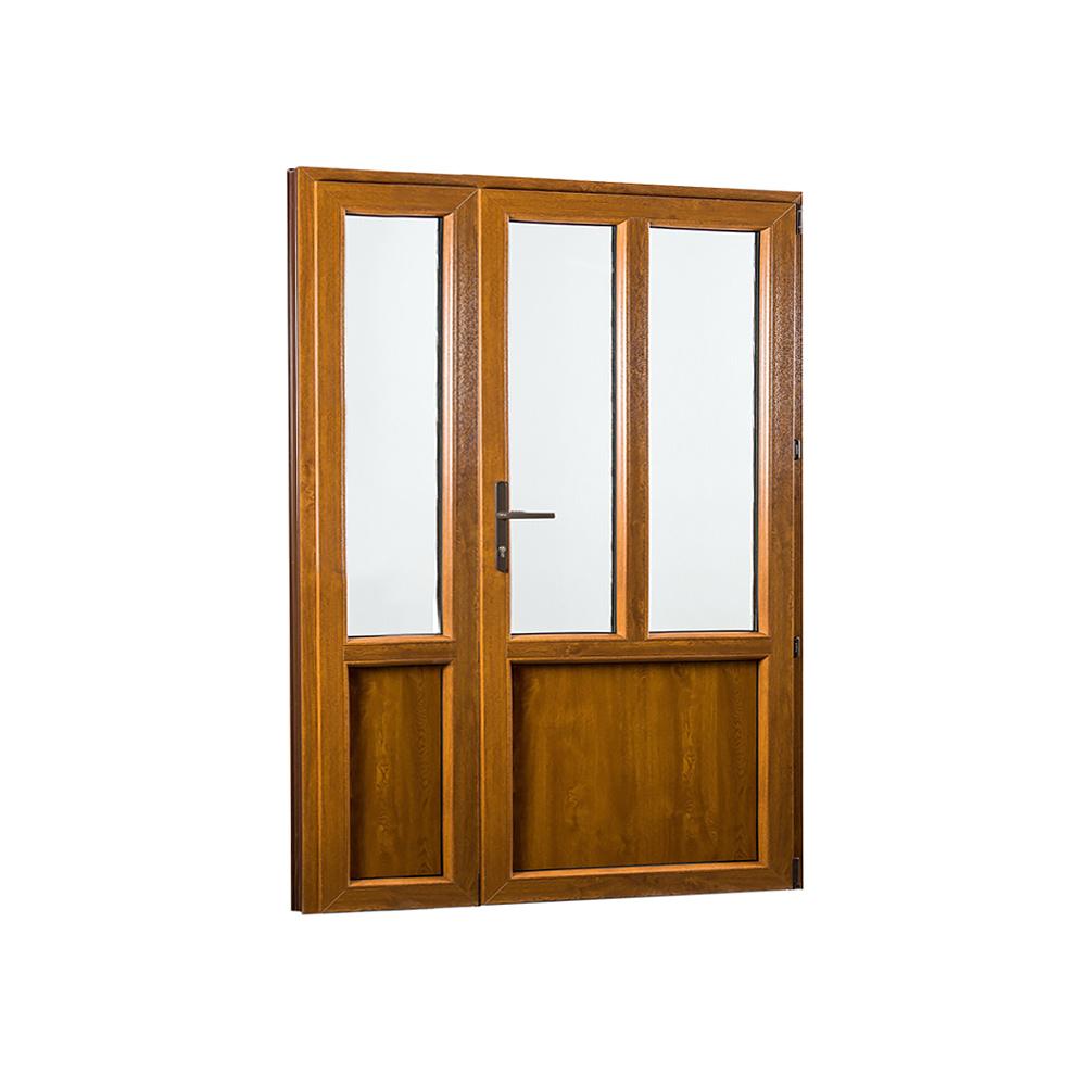 SKLADOVE-OKNA.sk - Vedľajšie vchodové dvere dvojkrídlové, pravé, PREMIUM - 1380 x 2080 mm, barva biela