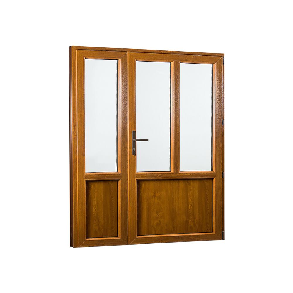 SKLADOVE-OKNA.sk - Vedľajšie vchodové dvere dvojkrídlové, pravé, PREMIUM - 1580 x 2080 mm, barva biela