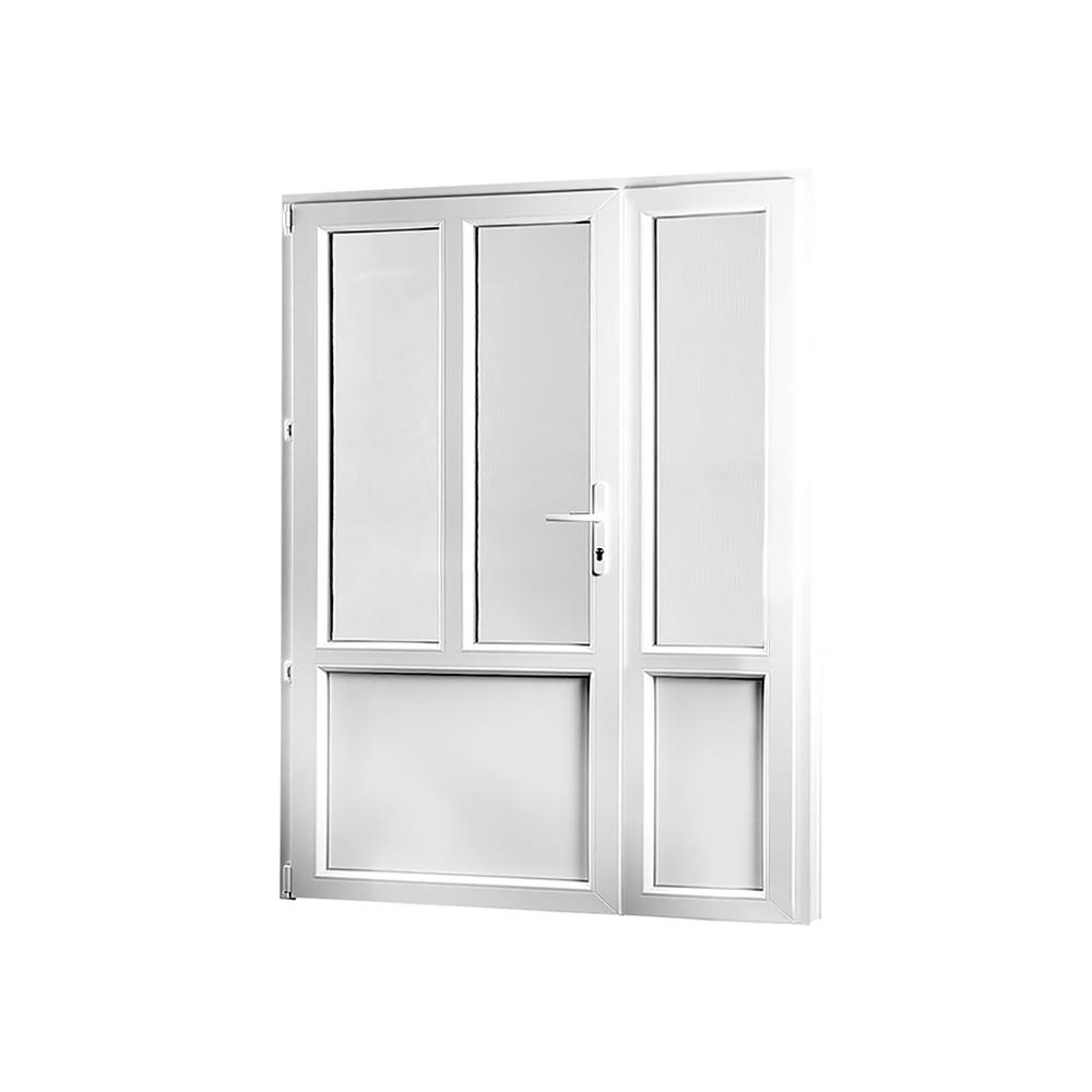 SKLADOVE-OKNA.sk - Vedľajšie vchodové dvere dvojkrídlové, ľavé, PREMIUM - 1480 x 2080 mm, barva biela/zlatý dub