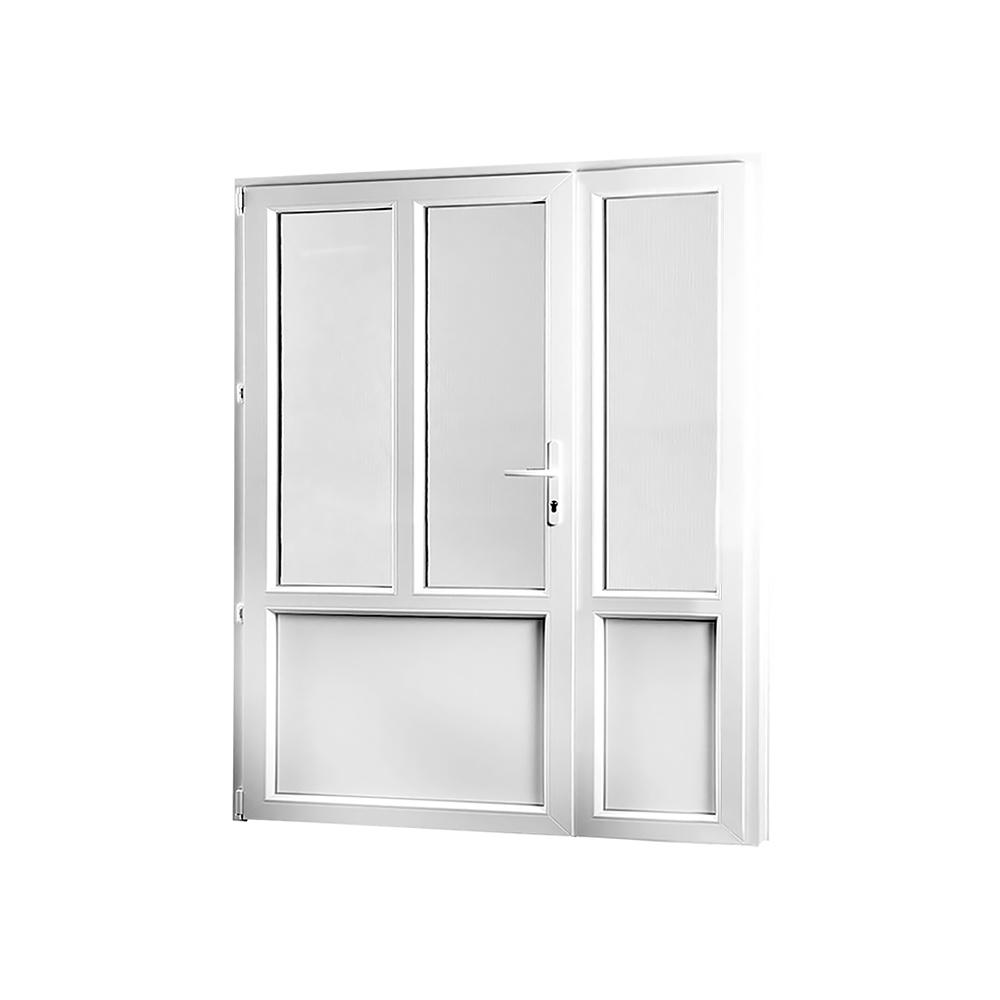 SKLADOVE-OKNA.sk - Vedľajšie vchodové dvere dvojkrídlové, ľavé, PREMIUM - 1580 x 2080 mm, barva biela/zlatý dub