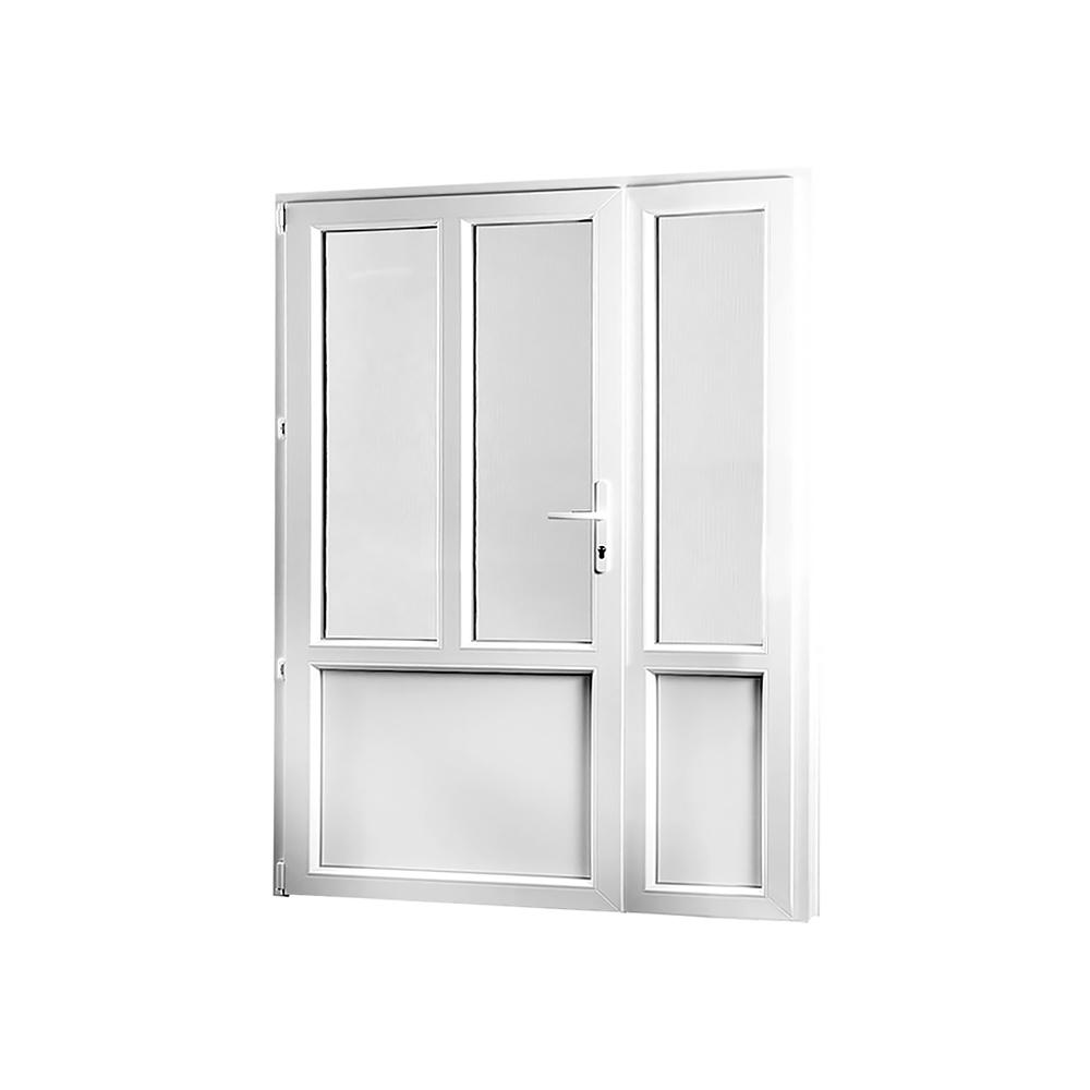 SKLADOVE-OKNA.sk - Vedľajšie vchodové dvere dvojkrídlové, ľavé, PREMIUM - 1380 x 2080 mm, barva biela/zlatý dub