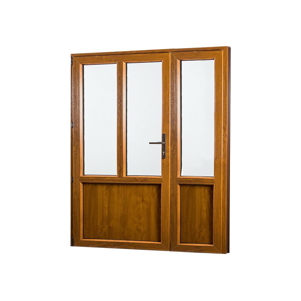 SKLADOVE-OKNA.sk - Vedľajšie vchodové dvere dvojkrídlové, ľavé, PREMIUM - 1580 x 2080 mm, barva biela