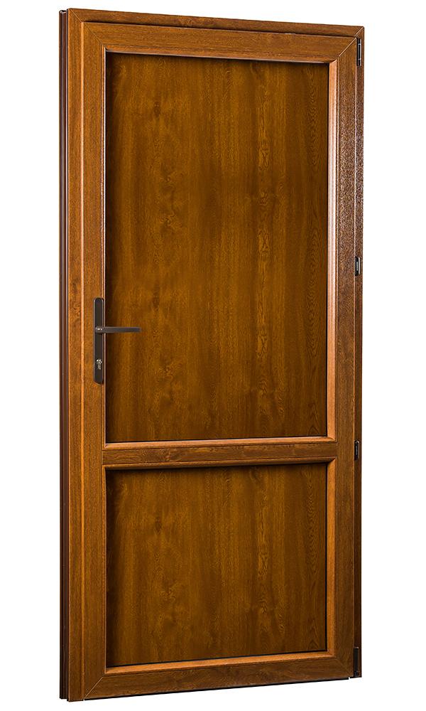 SKLADOVE-OKNA.sk - Vedľajšie vchodové dvere PREMIUM, plné, pravé - 880 x 2080 mm, barva biela