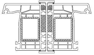 Spojovací profil Biela / Šedá Antracit typ H pre okná a dvere PREMIUM